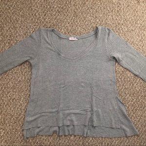 Lazy Sundays oversized sweater top gray